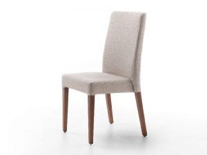 silla tapizada apilable secret