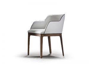silla tapizada de diseño veneto